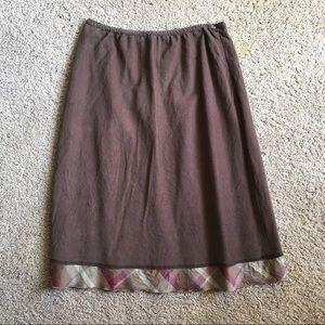 J. Jill light corduroy skirt
